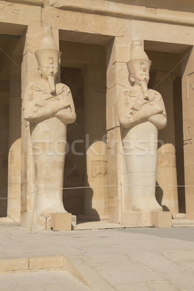 View of the statue of Queen Hatshepsut.  Stock photo © frank11