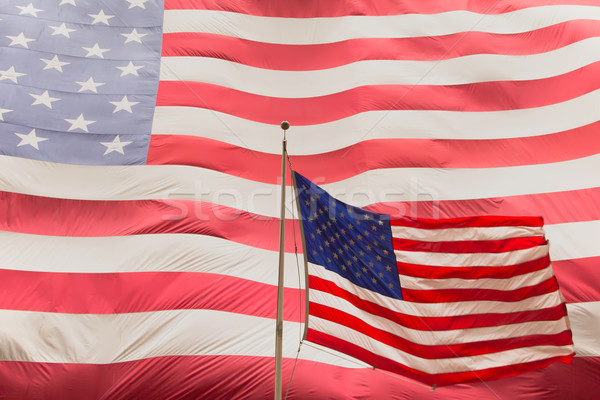 American flag on the mast Stock photo © frank11