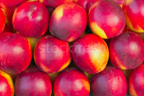 Nectarines in a market ready for sell  Stock photo © frank11