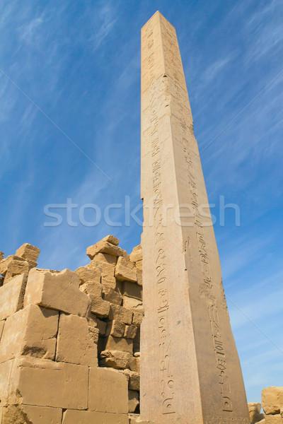 Obelisk in Karnak temple ( Luxor, Egypt) Stock photo © frank11