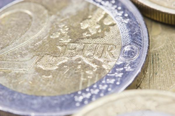 евро монетами макроса выстрел евро Focus Сток-фото © frank11