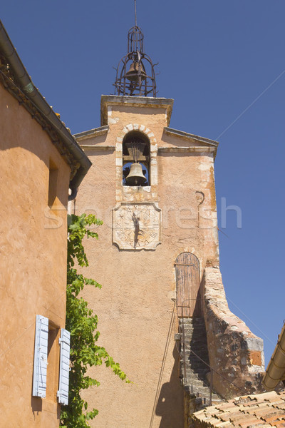 Tower in village of Roussillon (France) Stock photo © frank11