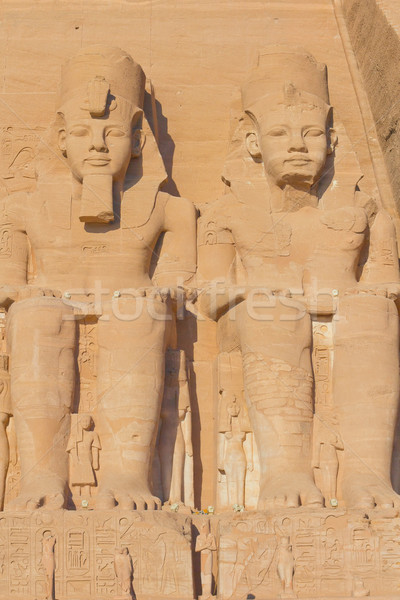 Sculptures in the Abu Simbel Temple (Egypt)  Stock photo © frank11