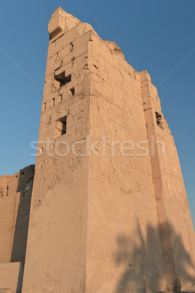 Pillar Kom Ombo temple covered with hieroglyphs (Egypt) Stock photo © frank11