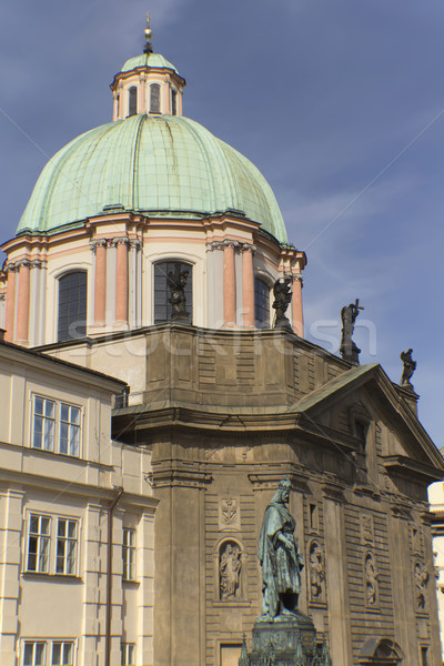 Dome of St. Francis of Assisi in Prague Stock photo © frank11