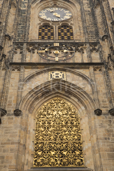 Gold window of Cathedral of st. Vitus (Prague) Stock photo © frank11