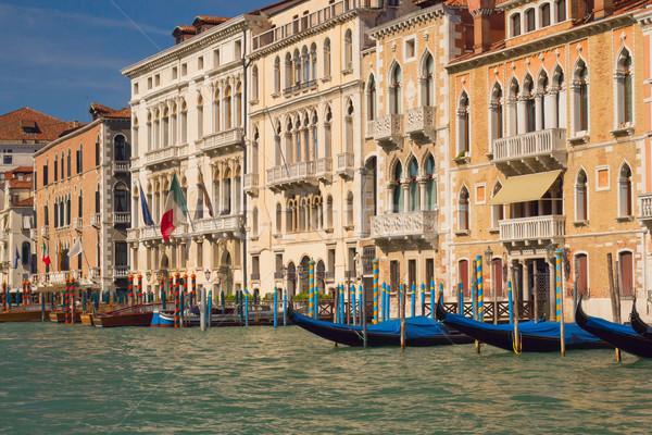 ストックフォト: 運河 · ヴェネツィア · イタリア · 水 · 光 · 海