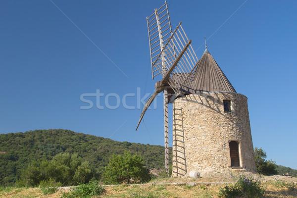 Сток-фото: древних · каменные · Windmill · деревне · небе · природы