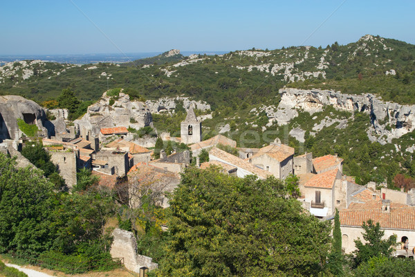 Village Les Baux de Provence in South France Stock photo © frank11