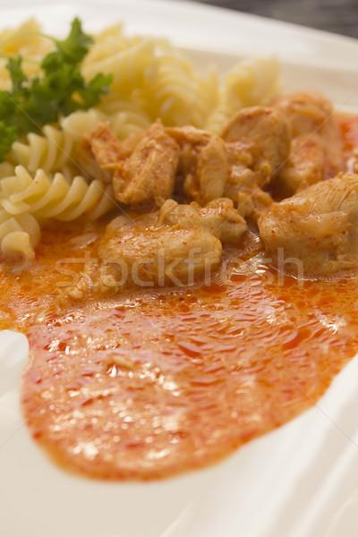 куриные частей пасты кремом соус Сток-фото © frank11