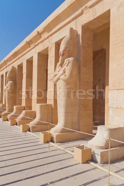 храма королева Египет мнение статуя Луксор Сток-фото © frank11