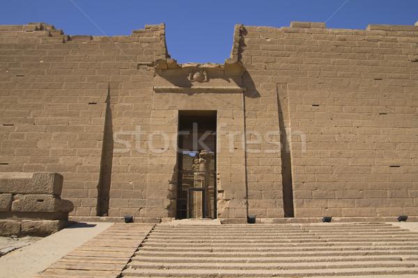 Bejárat templom Egyiptom Afrika épület utazás Stock fotó © frank11