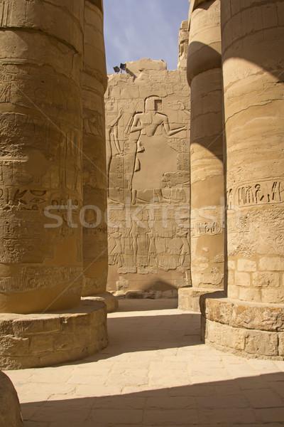 Sütunlar Mısır muhteşem salon luxor gökyüzü Stok fotoğraf © frank11