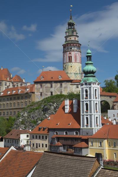 Görmek Çek Cumhuriyeti kasaba kale yaz unesco Stok fotoğraf © frank11