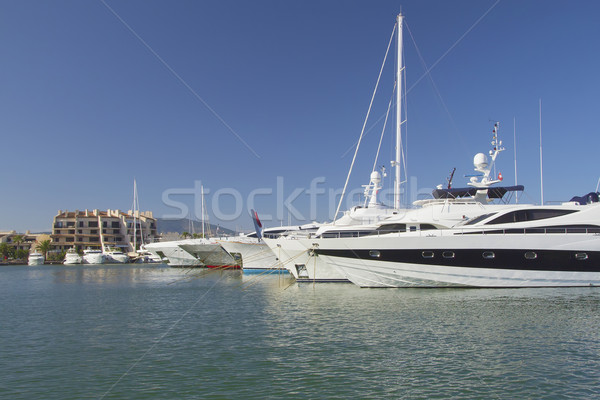 Yachts in a quiet harbor marina  Stock photo © frank11