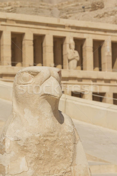 Statue in front of Hatshepsut Temple (Luxor, Egypt) Stock photo © frank11