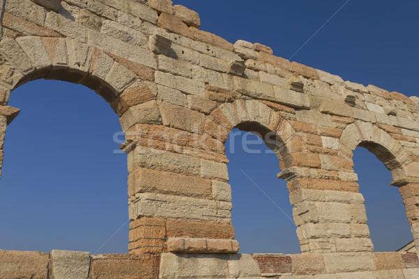 Aréna Verona Olaszország ősi amfiteátrum tipikus Stock fotó © frank11
