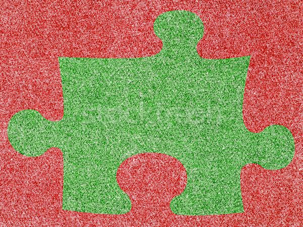 Denim Fabric in Christmas Colors  Stock photo © Frankljr