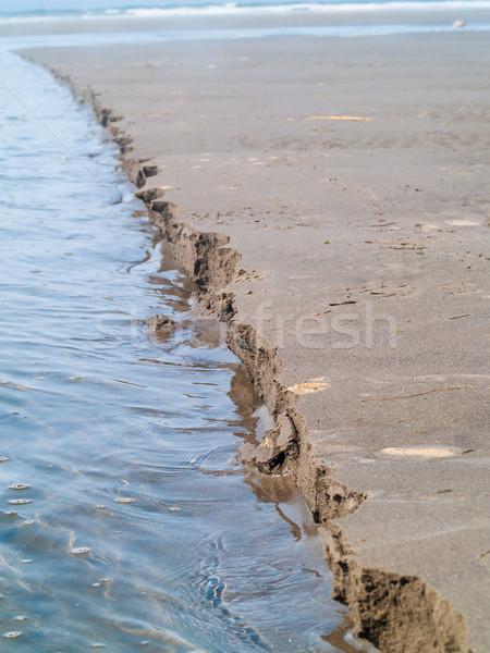 Lijn nat zand strand natuur zee Stockfoto © Frankljr