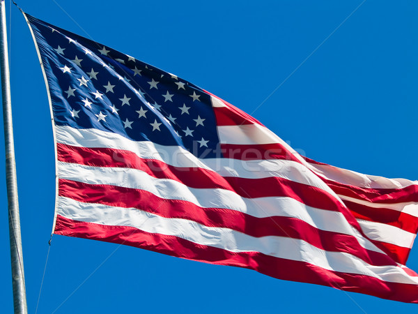 American Flag Waving Proudly on a Clear Windy Day Stock photo © Frankljr