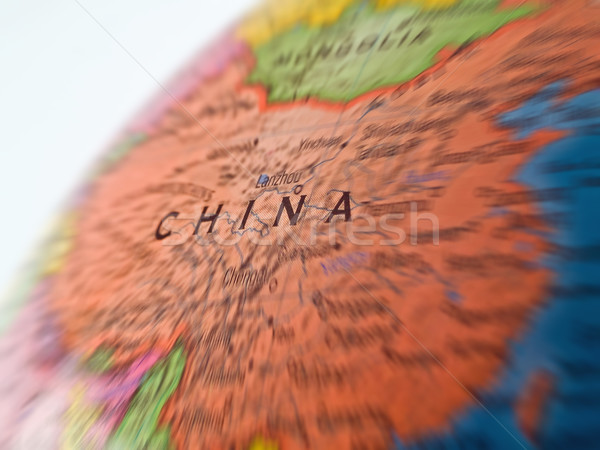 Global Studies A Colorful Closeup of China Stock photo © Frankljr