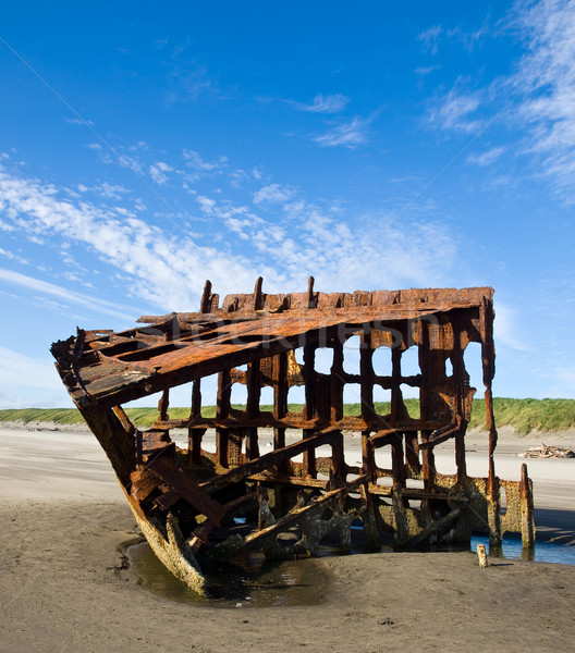 ржавые крушение судно пляж Орегон побережье Сток-фото © Frankljr