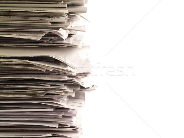 Stok fotoğraf: Eski · gazeteler · üst · alt · çerçeve