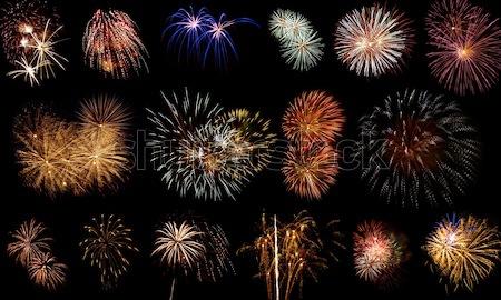 длительной экспозиции фейерверк черный небе вечеринка свет Сток-фото © Frankljr