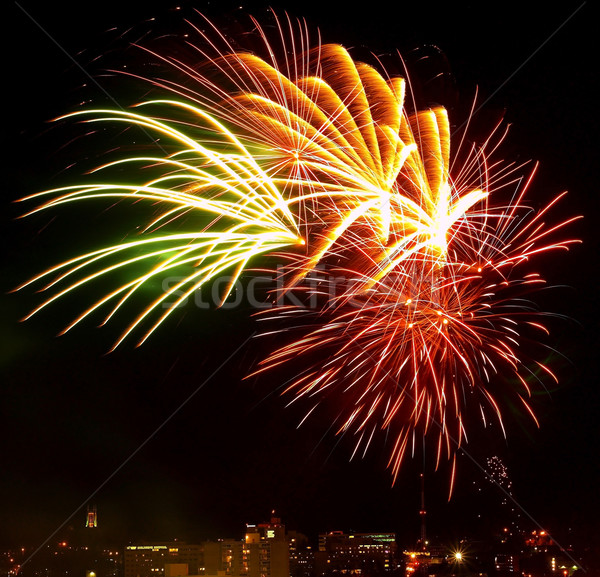 Stock photo: Fireworks Against the Night Sky