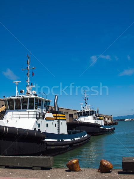 Tug Boats Docked in San Francisco  Stock photo © Frankljr