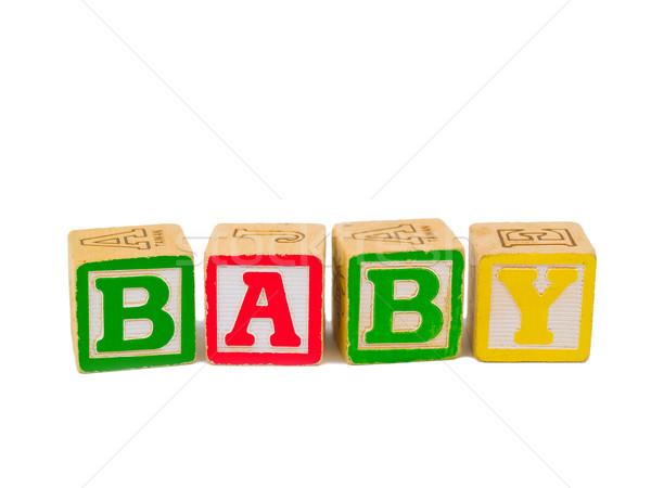 Renkli alfabe bloklar yazım kelime bebek Stok fotoğraf © Frankljr