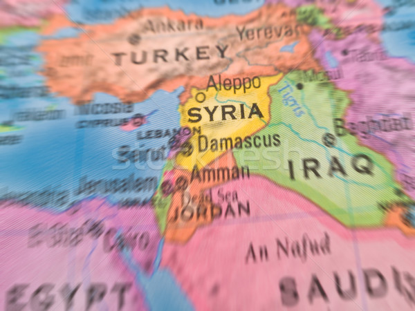 Global Studies - Middle Eastern Countries Centered on Syria Stock photo © Frankljr