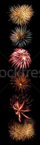Firework Bursts Arranged in to the Number 1 Stock photo © Frankljr