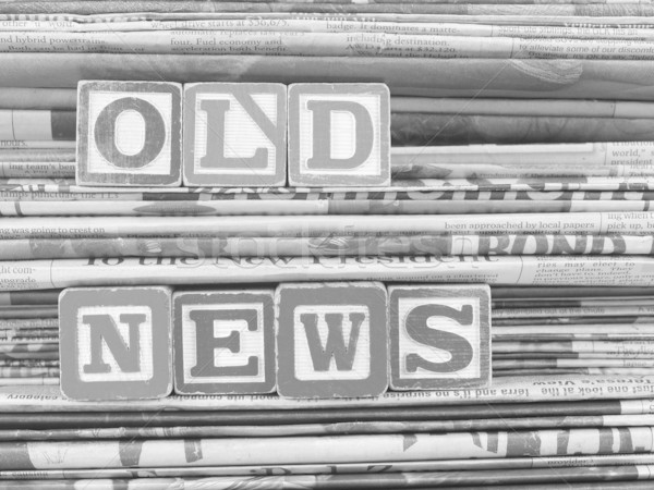 Old newspapers stacked and 'Old News' Stock photo © Frankljr