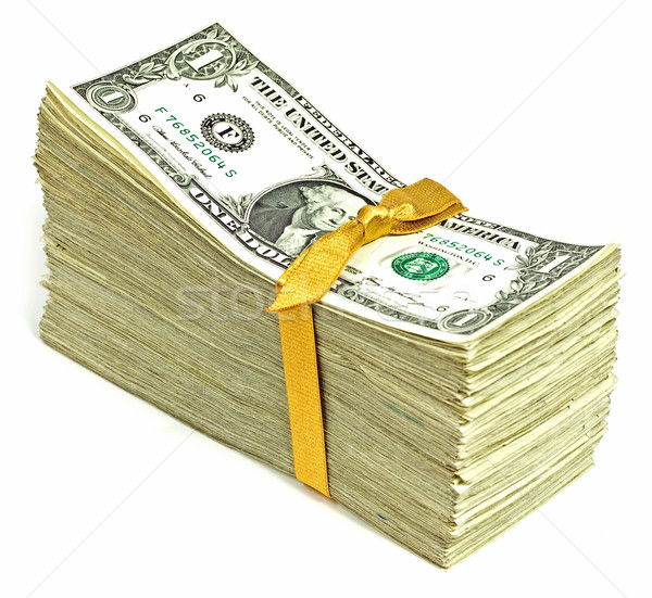 ストックフォト: スタック · 米国 · 通貨 · リボン · ビジネス