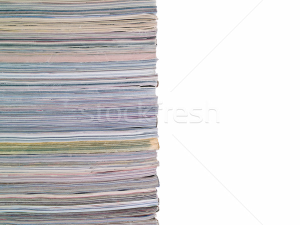 Magazine Stacked Half Frame Stock photo © Frankljr
