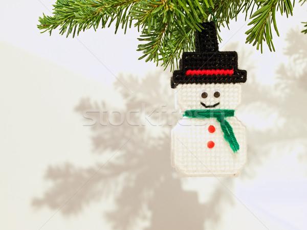Karácsonyfa ünnep dísz akasztás örökzöld ág Stock fotó © Frankljr