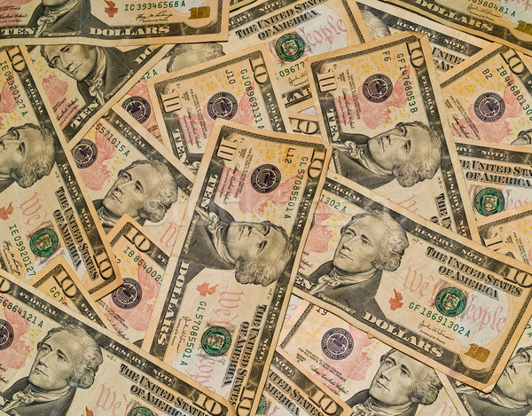 Background of the US $10 Bills Stock photo © Frankljr