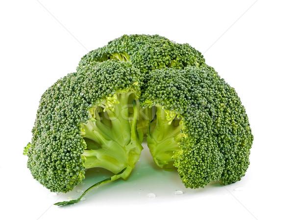 Vers ruw groene broccoli stukken gesneden Stockfoto © Frankljr