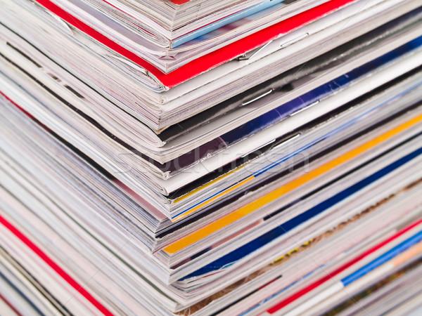 Magazine rand full frame tijdschriften Stockfoto © Frankljr