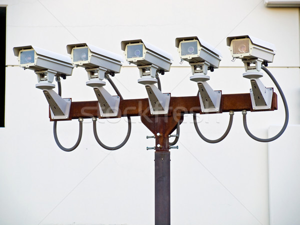 Group of Five Security Cameras Stock photo © Frankljr