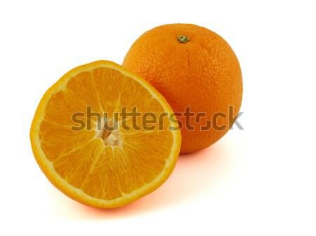 Sinaasappelen half geïsoleerd witte natuur Stockfoto © Frankljr