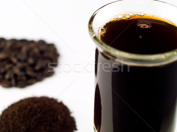 Coffee Beans Coffee Grounds and a Cup of Brewed Coffee Stock photo © Frankljr
