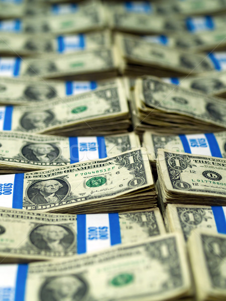 Bundles of U.S. One Dollar Bills Stock photo © Frankljr