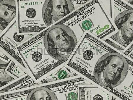 A Pile of Hundred Dollar Bills as a Money Background Stock photo © Frankljr