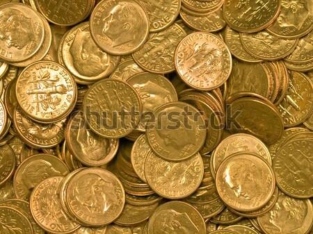 Estados Unidos moedas dinheiro fundo metal Foto stock © Frankljr
