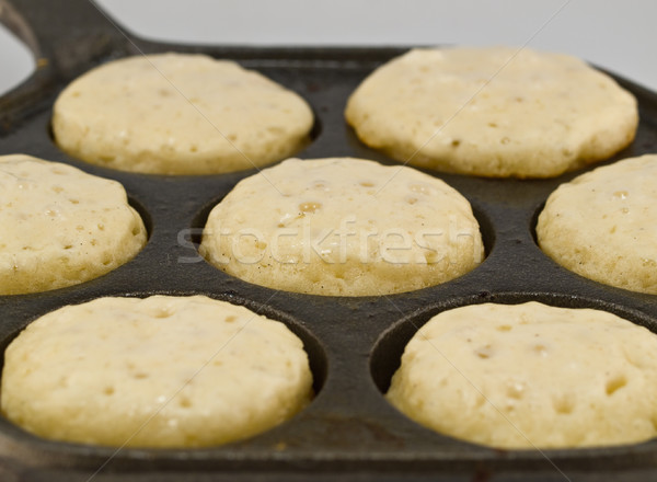 Lot cuisson pan grasse blanche fer Photo stock © Frankljr