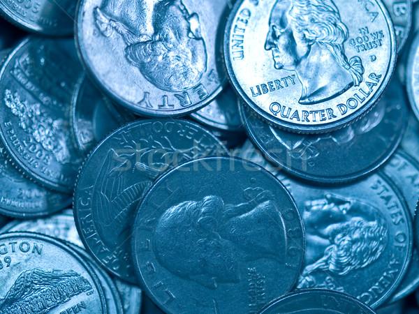 Köteg Egyesült Államok érmék pénz háttér fém Stock fotó © Frankljr