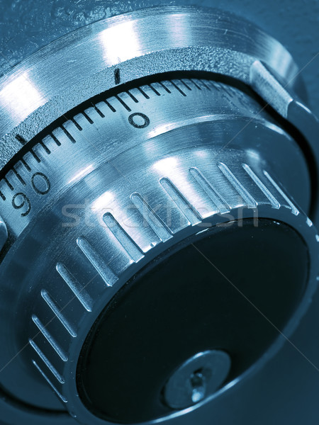 Closeup of a Safe Vault Combination Spinner Stock photo © Frankljr