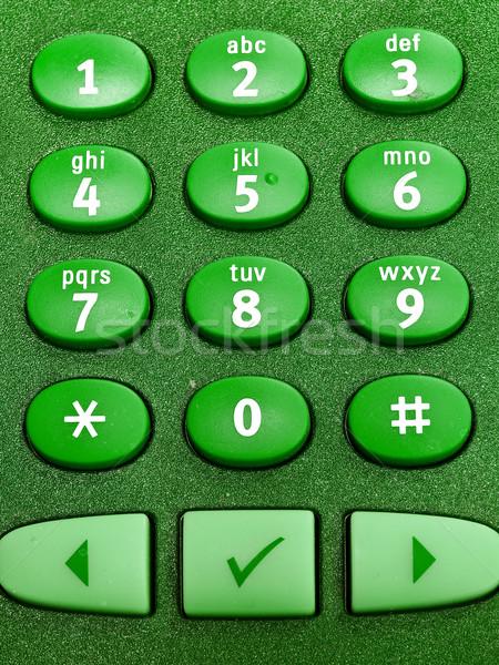 電話 キーパッド マクロ 便利 ビジネス オフィス ストックフォト © Frankljr